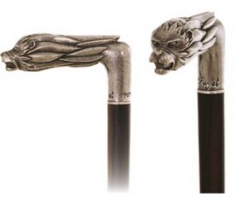 Gehstock  Lady in the nude Handle Silver plated
